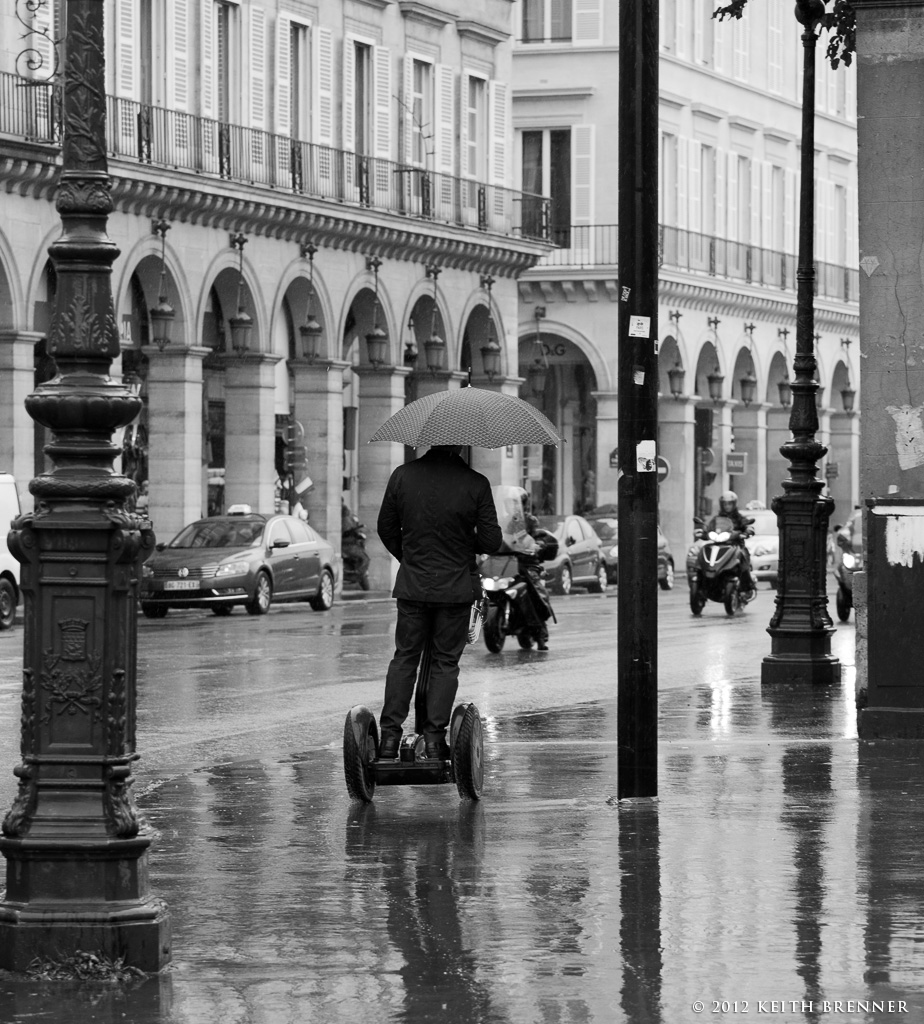Segwaying in the Rain