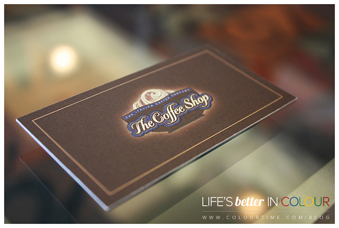 The Coffee Shop Business Card by Colour Time