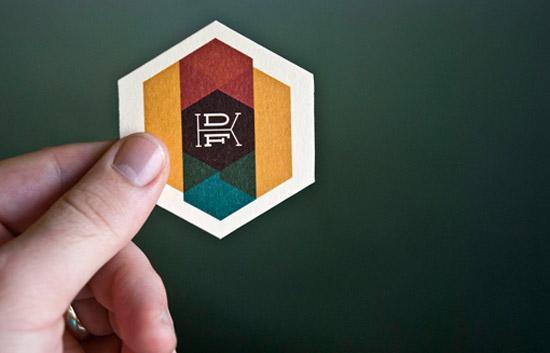 hexagonal business card