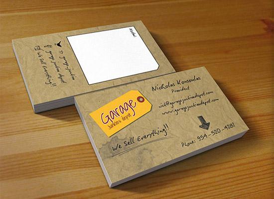 garage business card