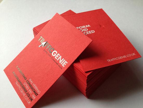 traffic genie business cards