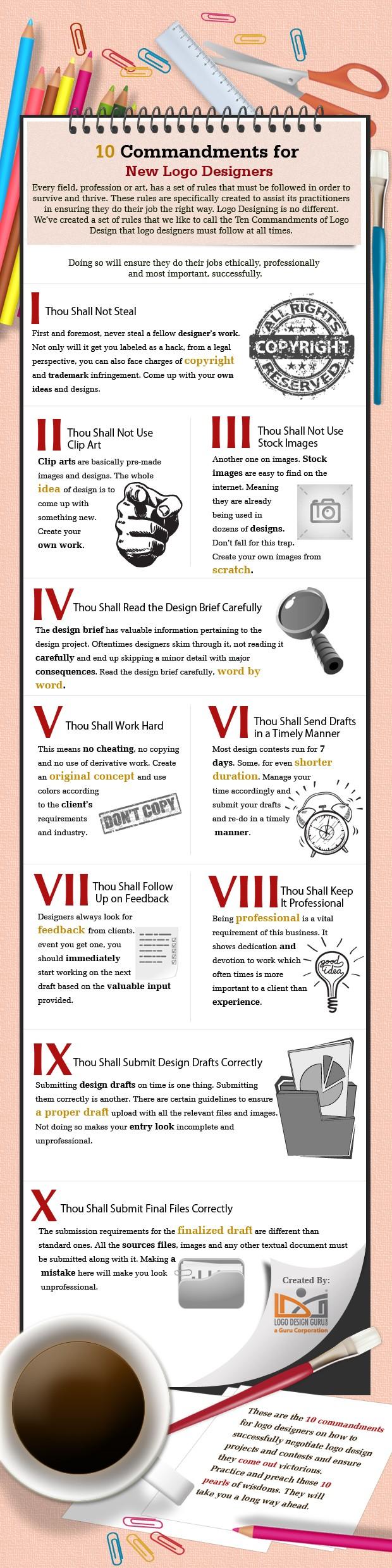 10 Commandments for New Logo Designers